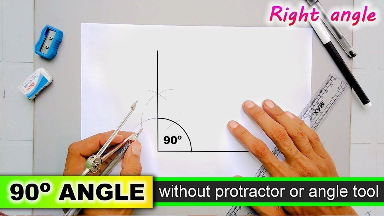 how to draw right angle without