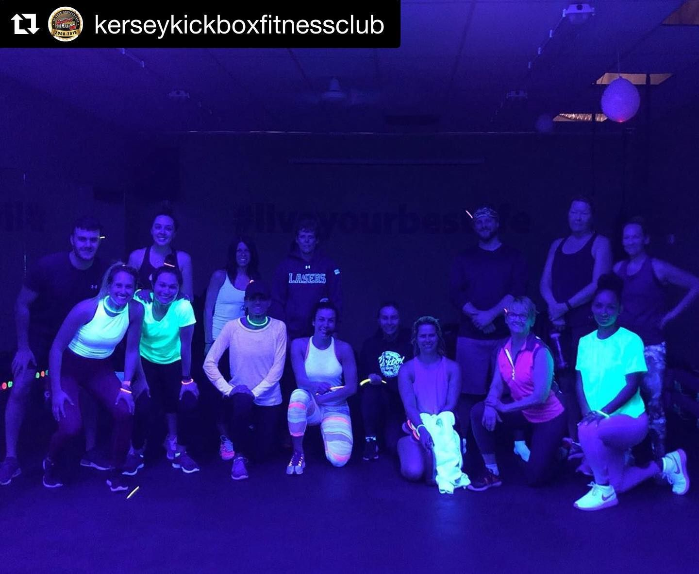 Kersey Kickbox Fitness Club S Glow Party Over The Weekend Was Lit Literally Complete With A Dj Spinning Kersey S Glow Party Weekend Is Over Party Over
