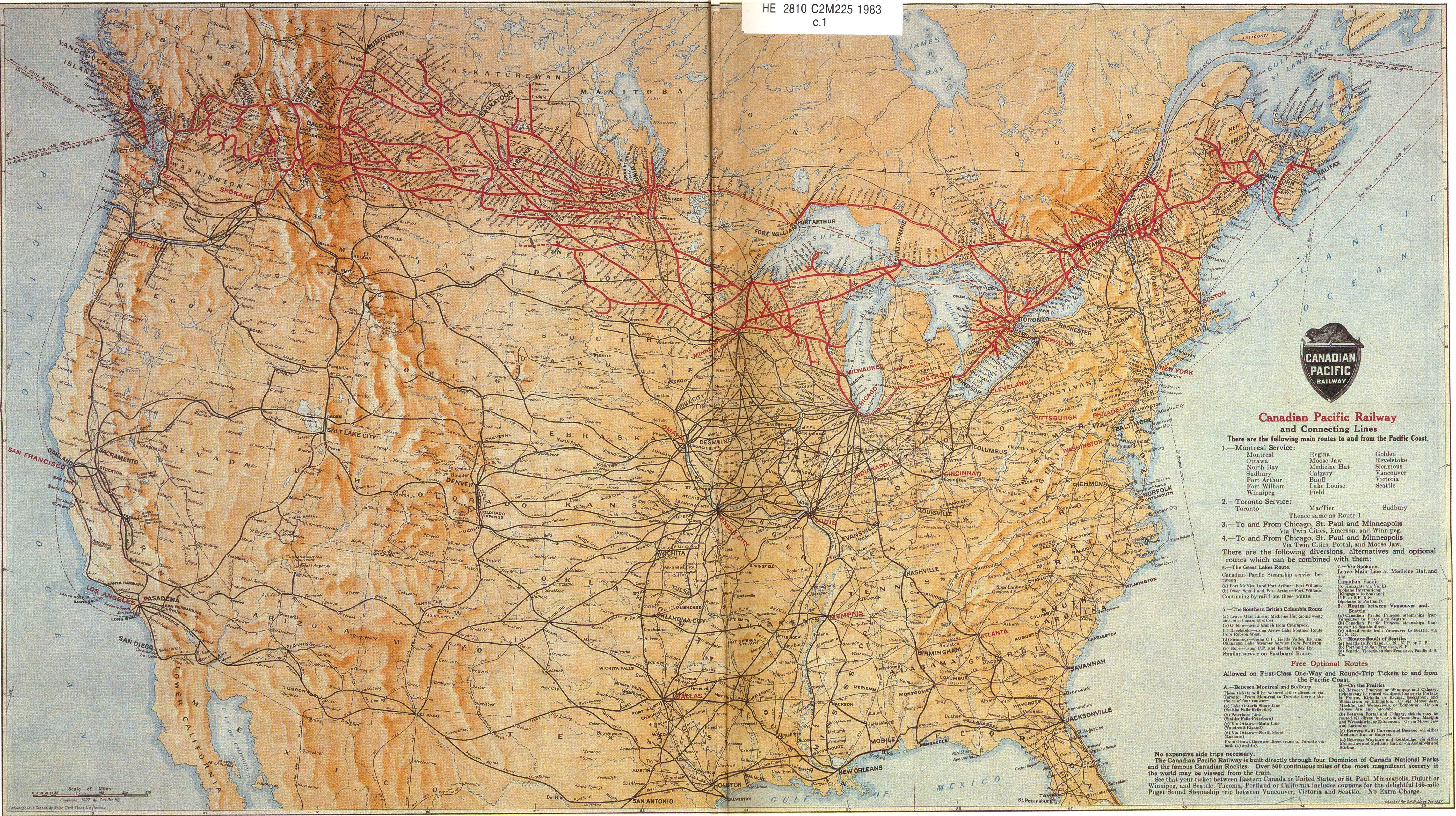 Canadian Pacific Railway and Connecting Lines