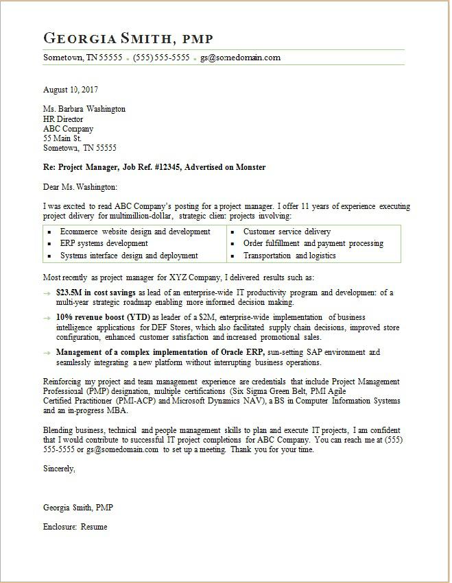 Project Manager Cover Letter In 2021 Project Manager Cover Letter Cover Letter For Resume Project Manager Resume