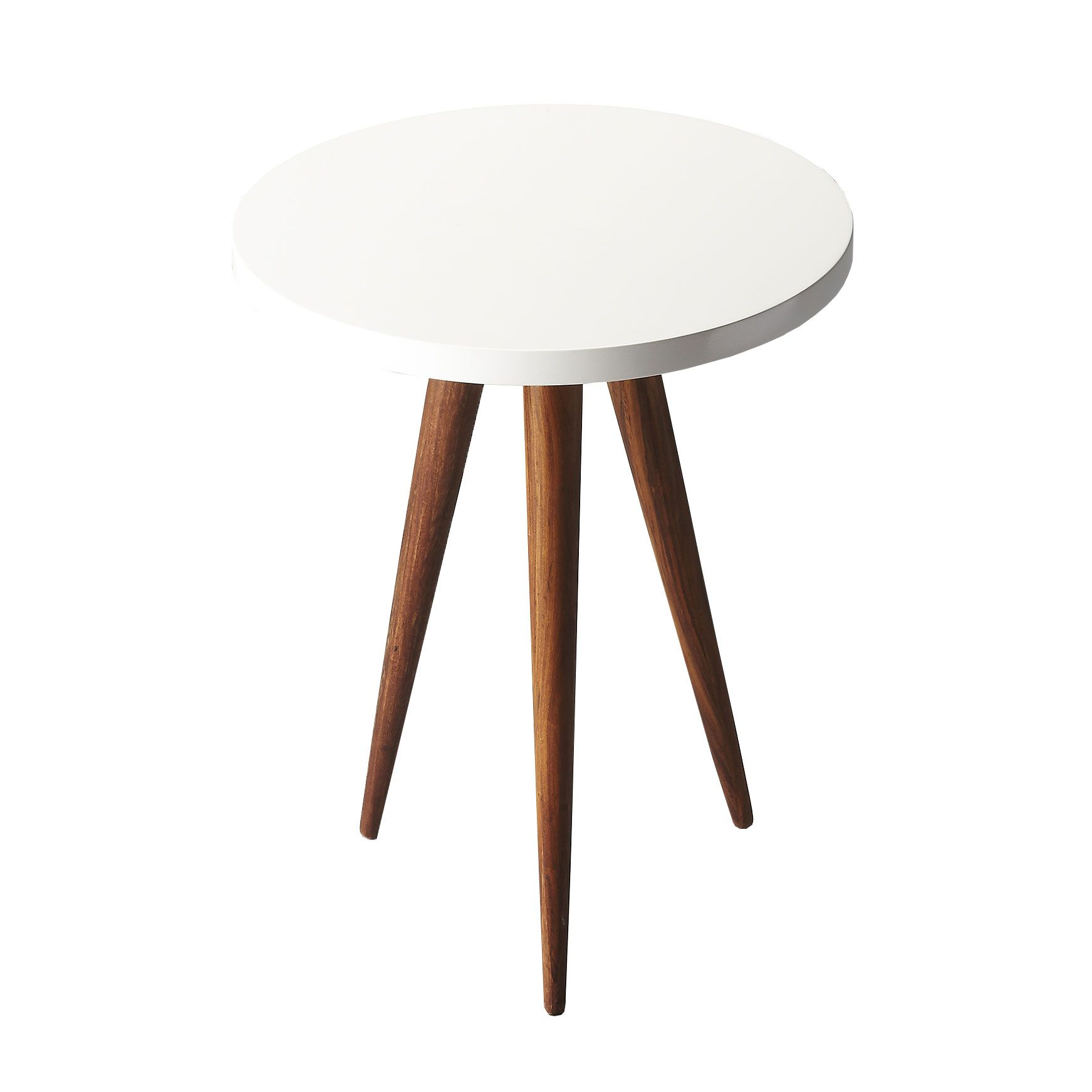 Strongly Tapered, Deep Wood Legs Give This Mid Centuryu2013inspired Table A  Slightly