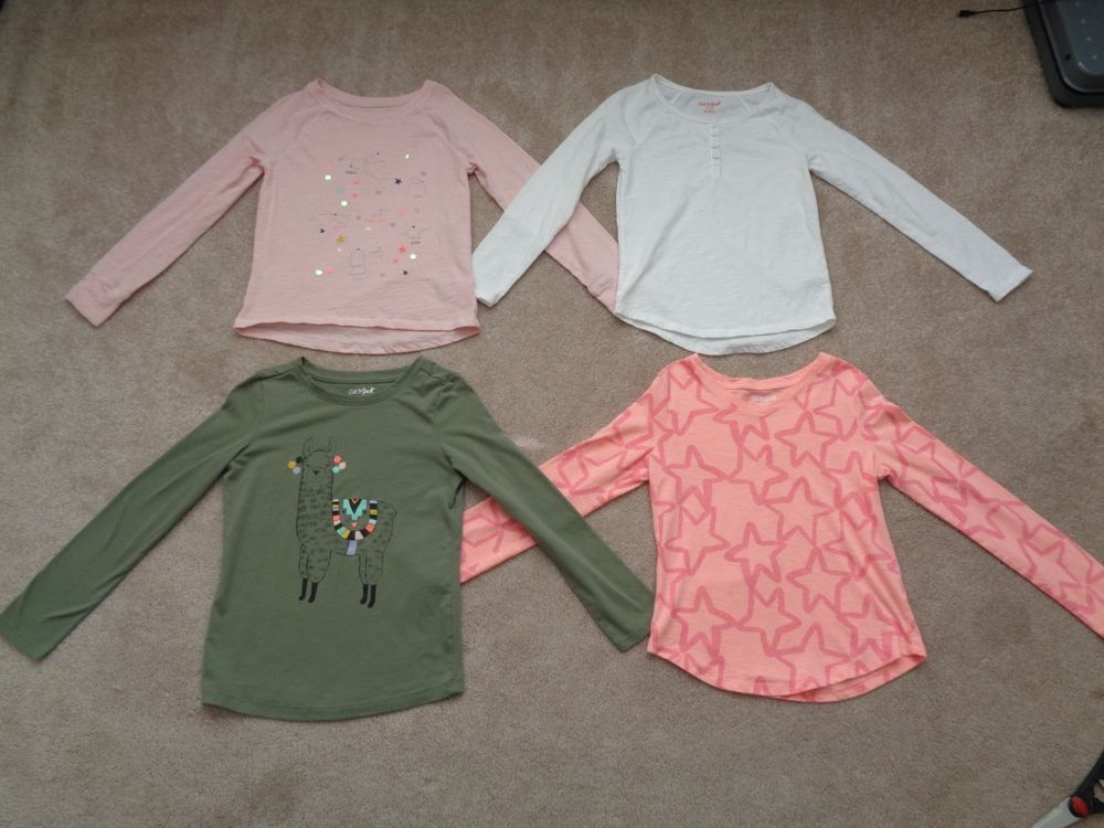 7d6f025d4fc7e Assorted Lot of 4 Girls TARGET CAT & JACK Long Sleeve Top T-Shirts ...