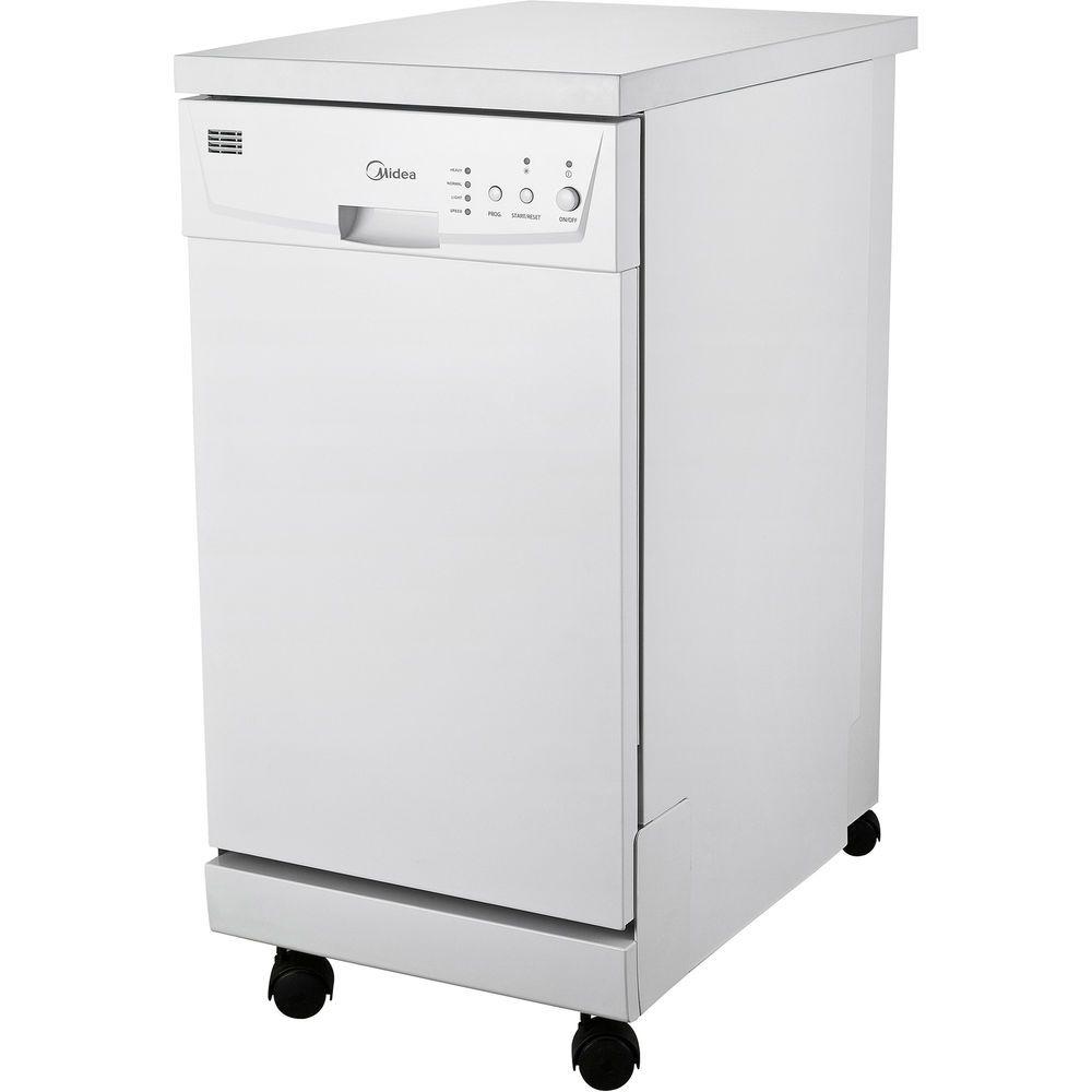 Midea 18 8 Place Setting Portable Dishwasher White M18dp9239ww3a R Dishwasher White Portable Dishwasher Home Appliances