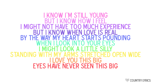 i love u this big lyrics