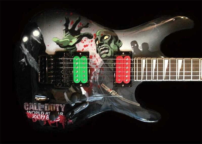 Call Of Duty World At War Zombies Custom Guitar