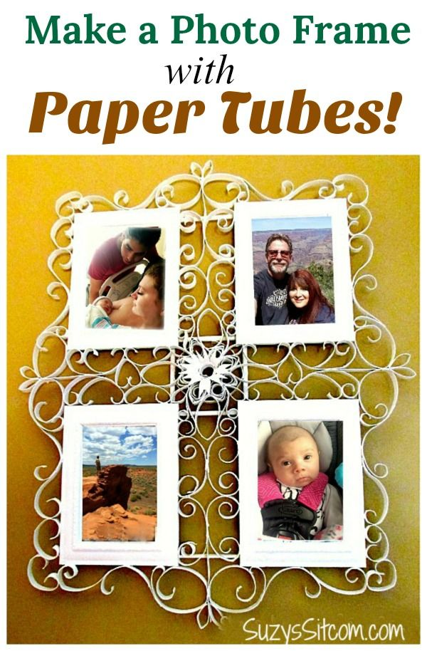 Made a Photo Frame with Paper Tubes!   Pretty photos, Filigree and ...