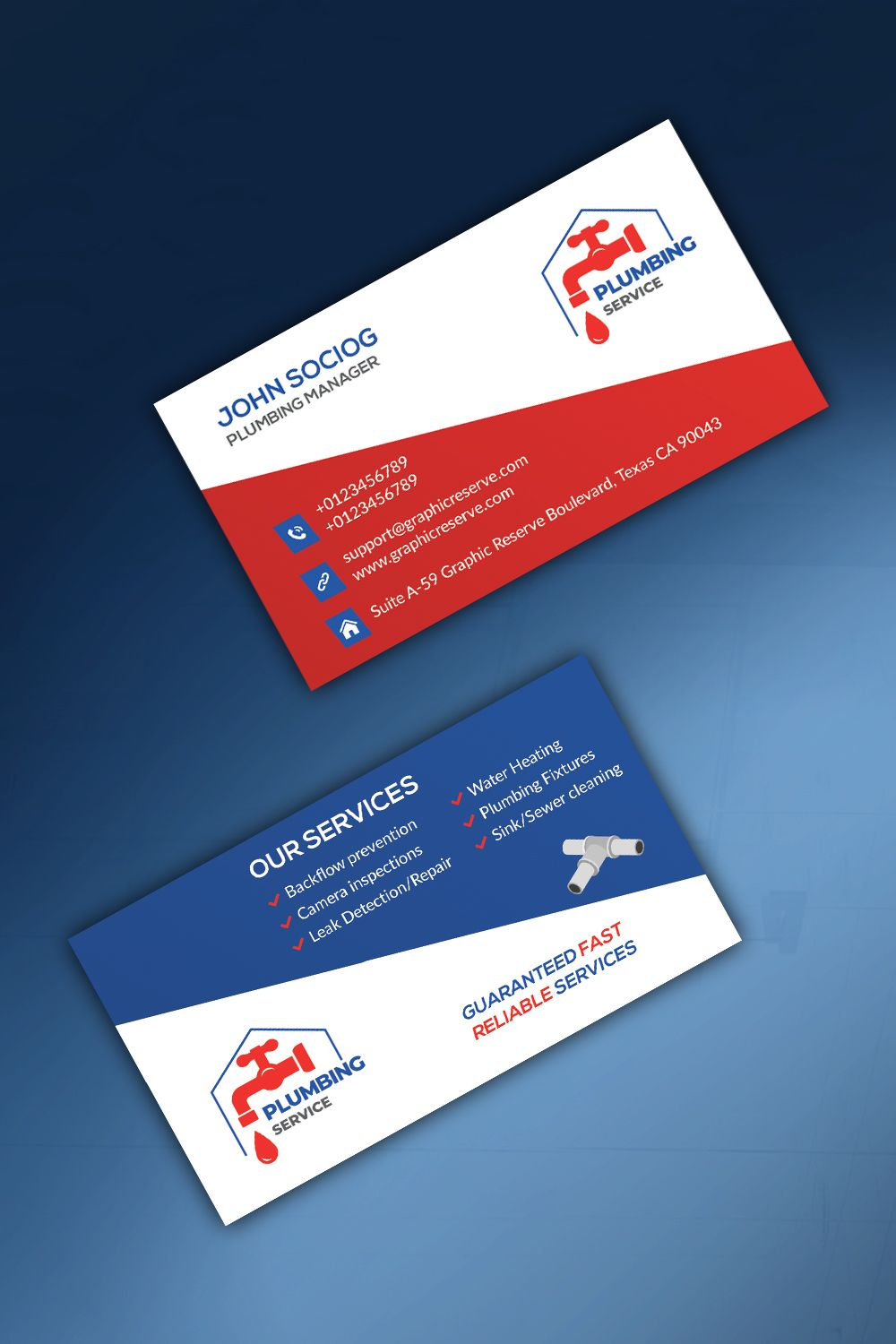 Plumber Business Card Business Card Graphic Modern Business Cards Business Cards