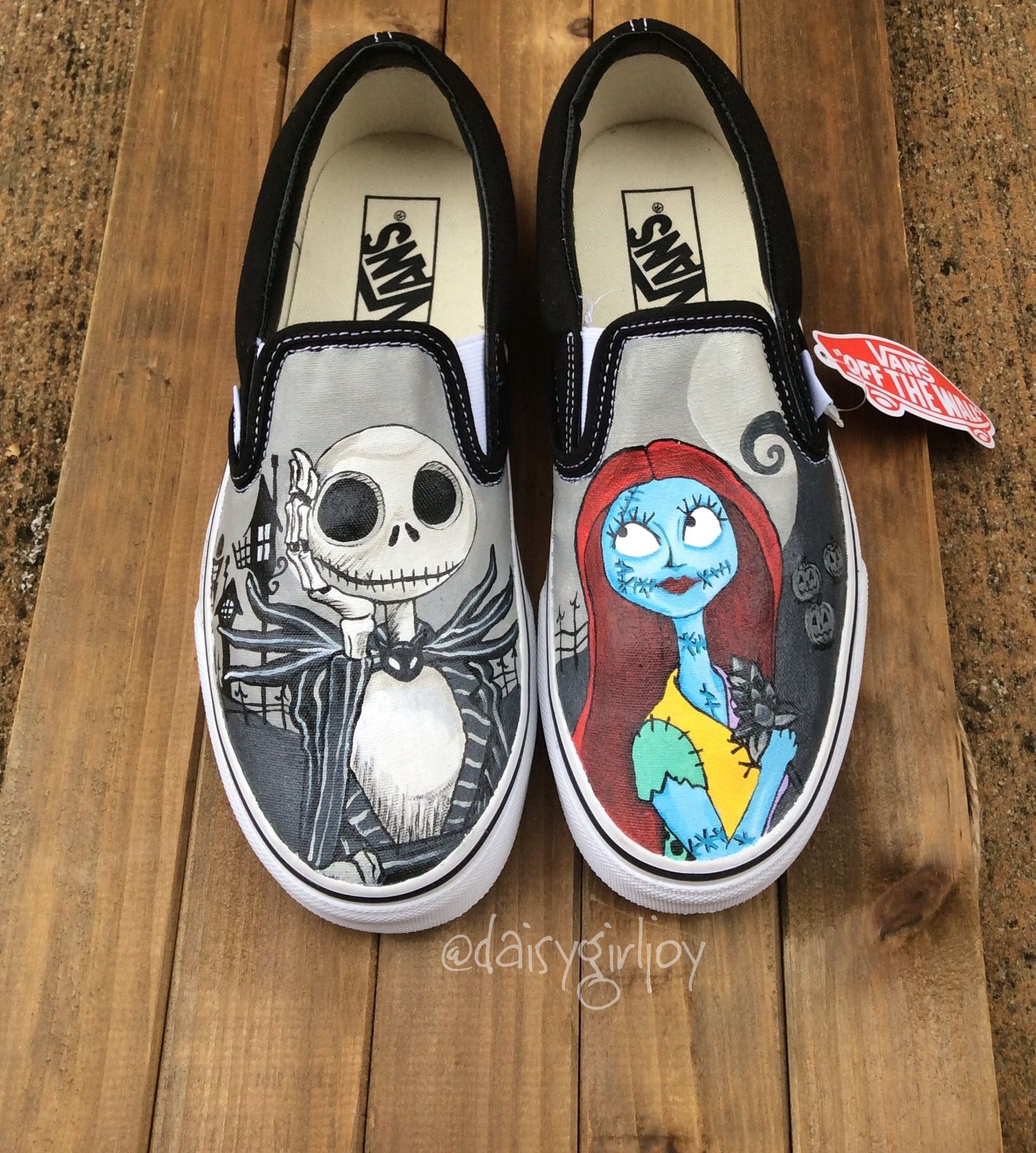 a2f2d6f5 Hats · Nightmare before Christmas shoes disney @daisygirljoy Sharpie Shoes,  Christmas Shoes, Hand Painted Shoes