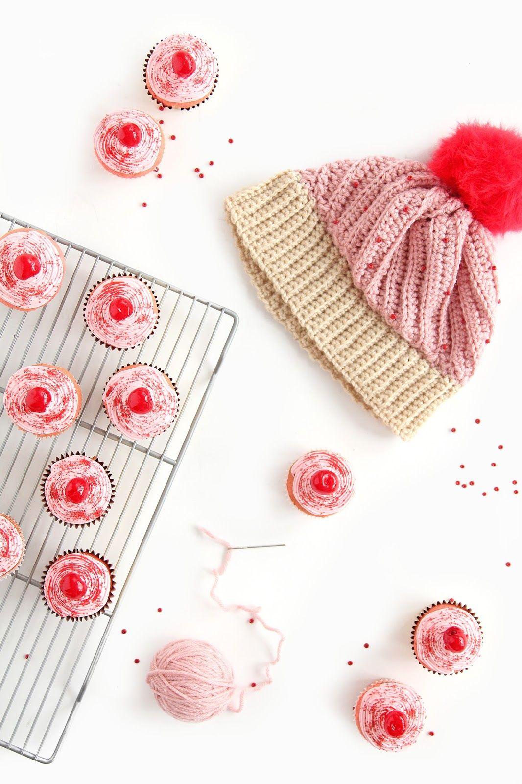DIY Crochet Cupcake HatHoliday Wreath Donuts On Brit CoDIY Emoji ...