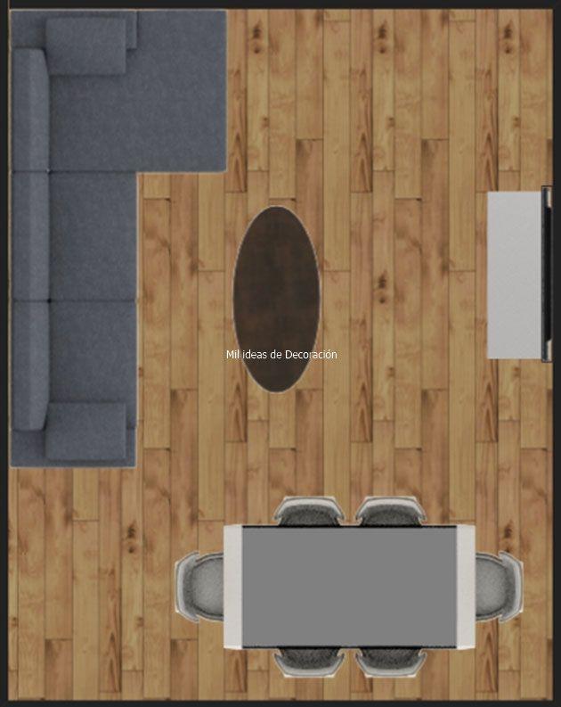 20 formas de distribuir un salón comedor rectangular | decoracion ...