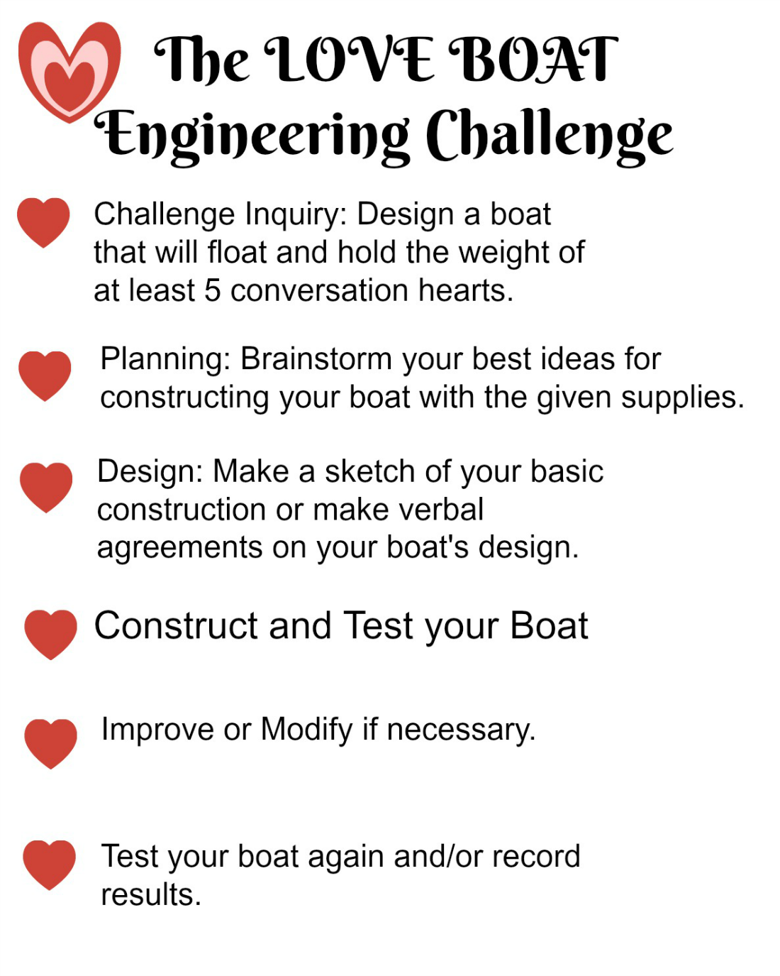 The Love Boat Steam Engineering Challenge For Kids