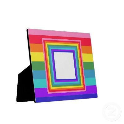 Super colorful rainbow plaque gift. Insert a poem or a favorite photo....$25.20
