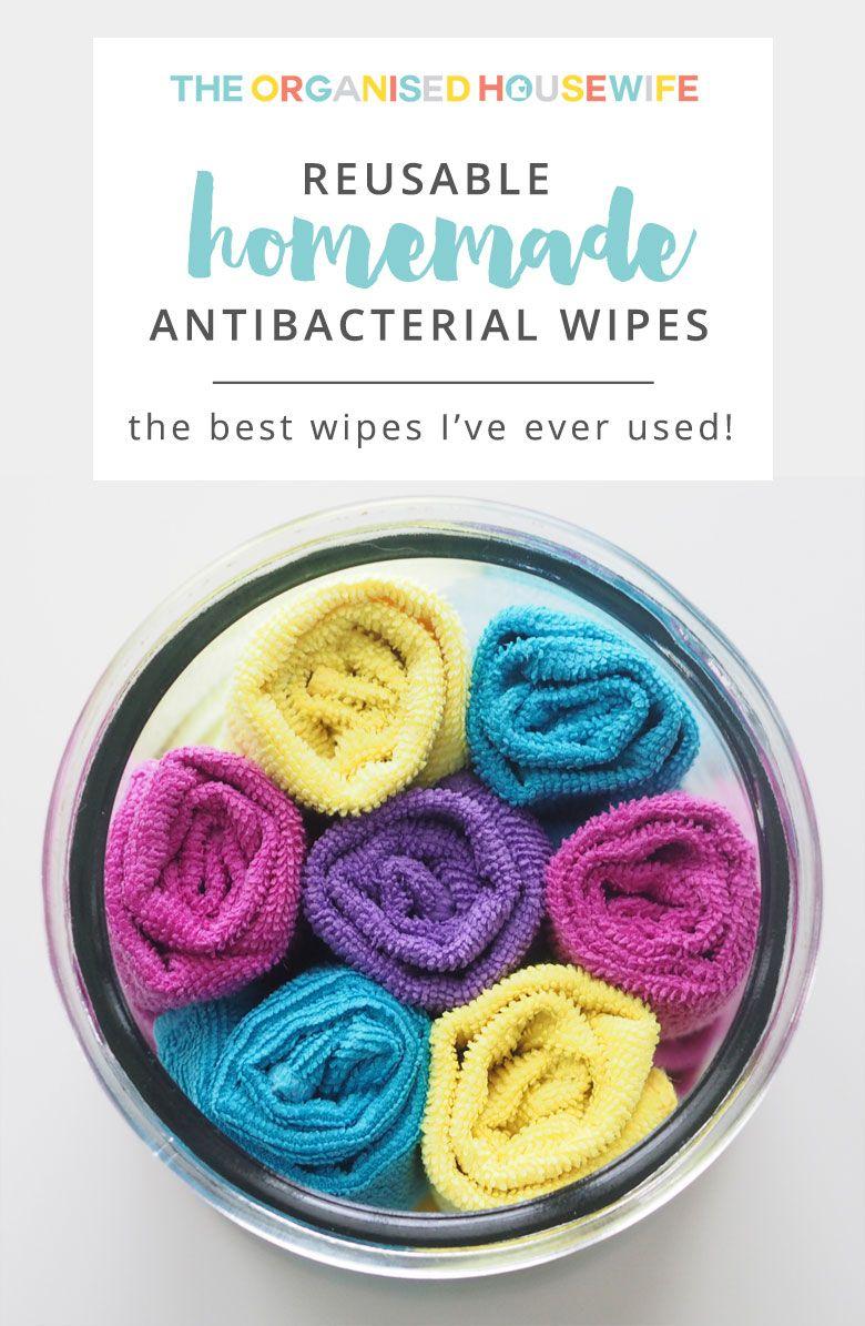 Reusable homemade antibacterial wipes Recipe Homemade