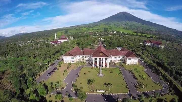 Mount Dempo 'n Mayor's office of Pagar Alam City
