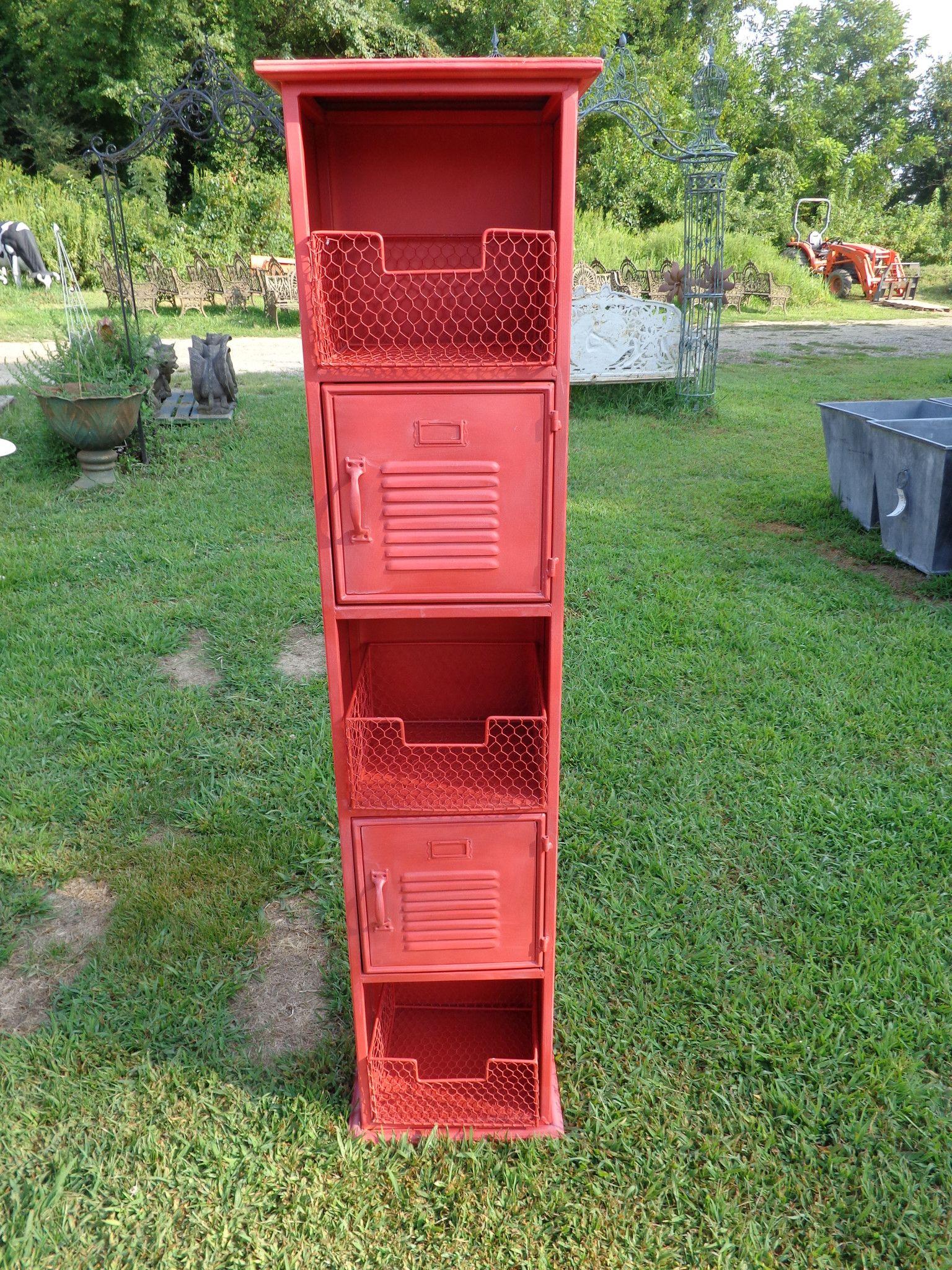 Industrial Red Locker Cabinet