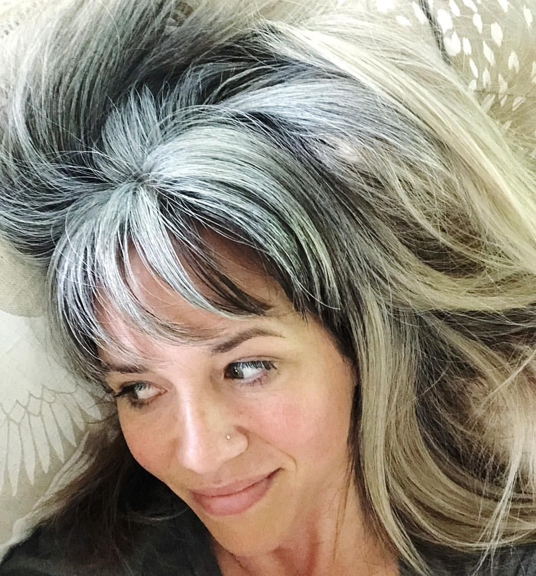 Littlespottedfawn Instagram Photos And Videos Gray Hair Growing Out Long Hair Styles Beautiful Gray Hair