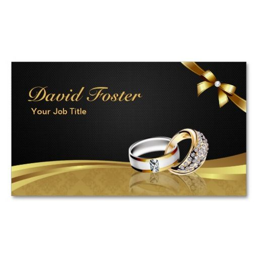 Jewelry Business Cards Diamond Ring Gold Jeweler Jewelry - Jewelry business card templates