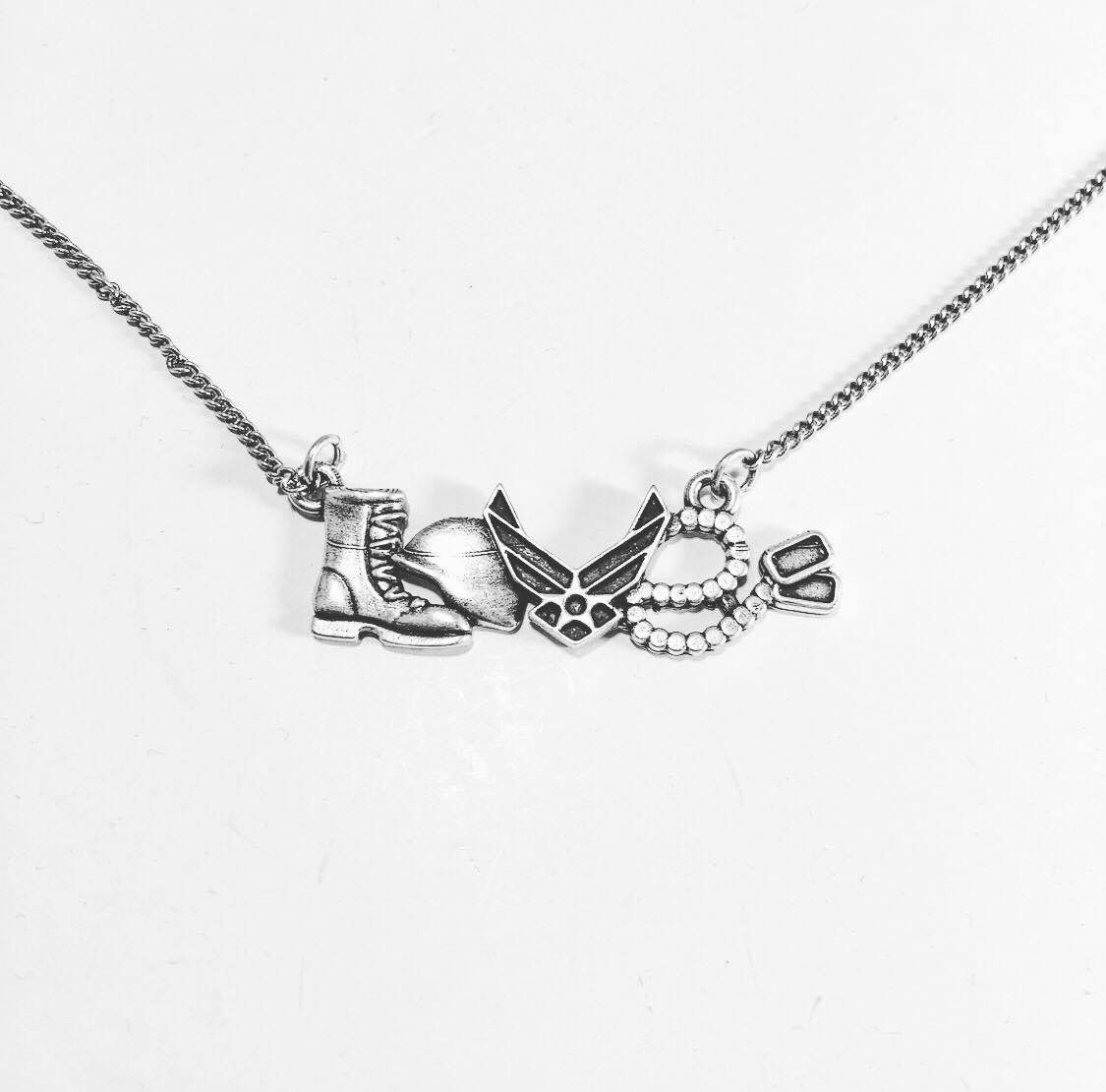 Us Air Force Love Necklace