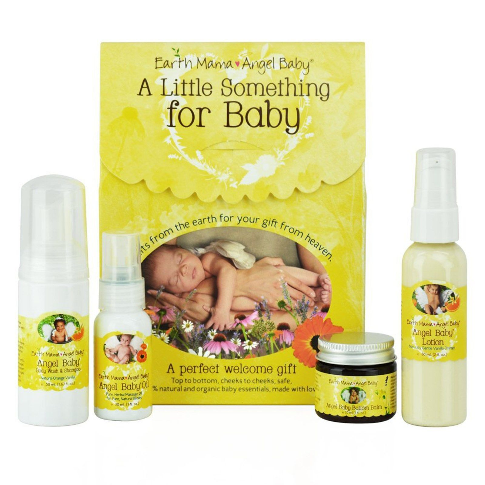 Earth Mama A Little Something For Baby 5 Piece Set Discontinued Item Earth Mama Angel Baby Baby Gift Sets Earth Mama