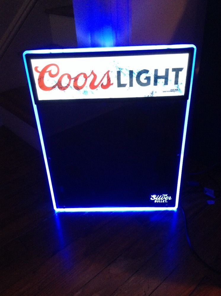 Coors light beer menu chalkboard lighted led motion sign dry erase coors light beer menu chalkboard lighted led motion sign dry erase new in box aloadofball Images