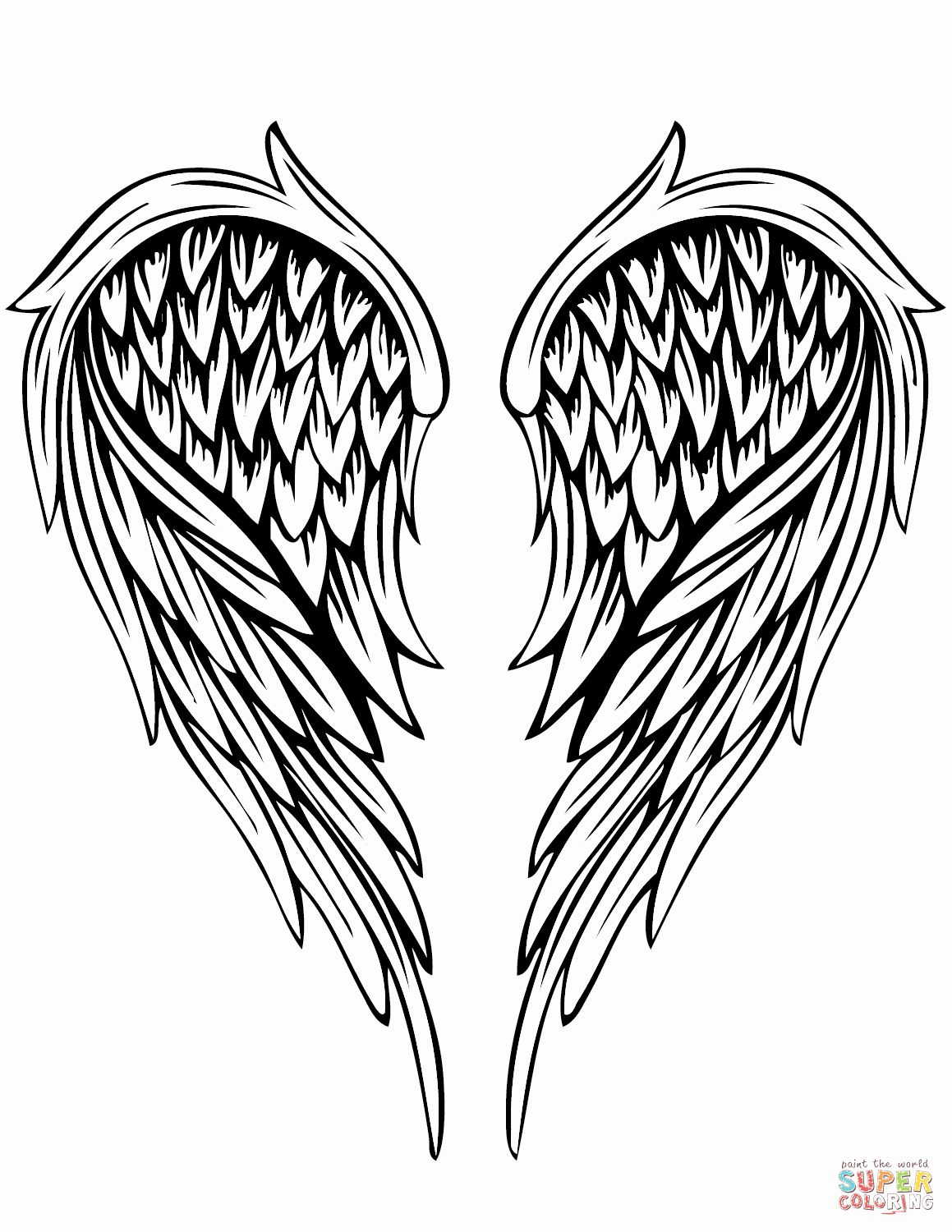 Tattoo Coloring Book Pages Beautiful Angel Wings Tattoo Coloring Page Angel Wings Tattoo Tattoo Coloring Book Wings Tattoo