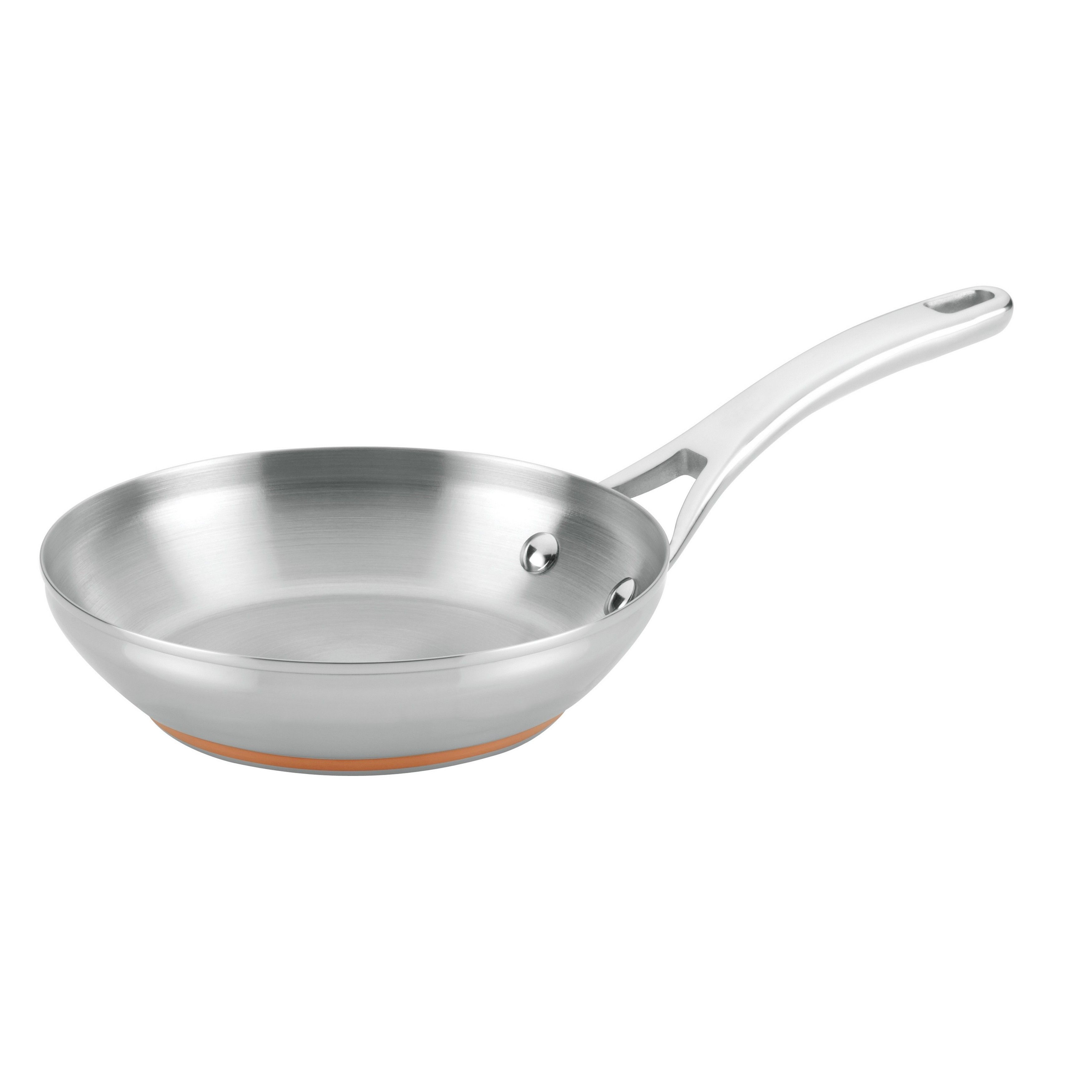 Anolon Nouvelle Copper Stainless Steel 8-inch French Skillet (8-Inch ...