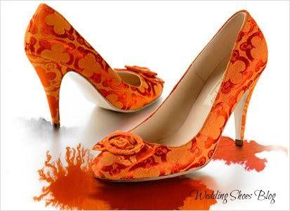 Amazing Orange Wedding Shoes