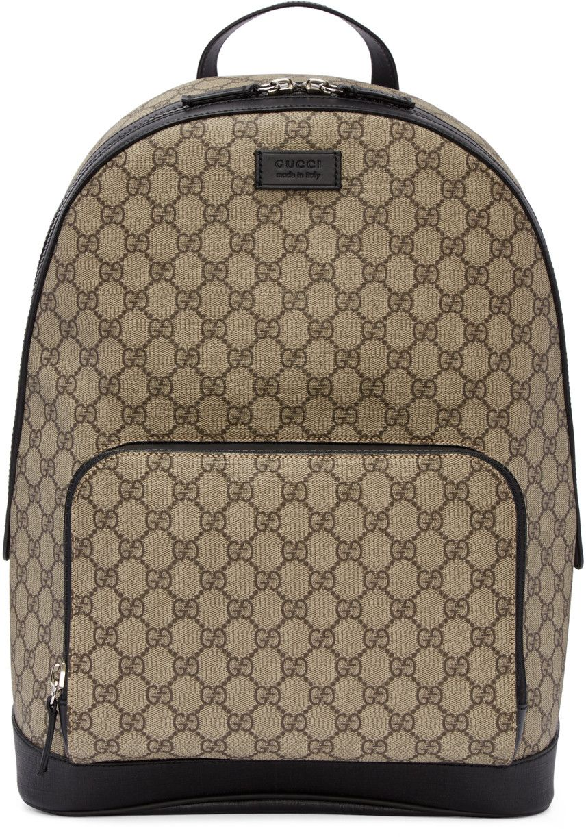 c207679fd27 Gucci - Beige GG Supreme Backpack