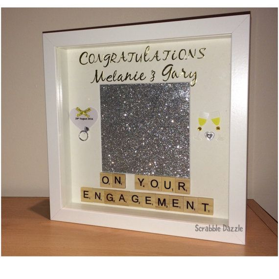 personalised engagement gift engagement frame by scrabbledazzle - Engagement Photo Frames