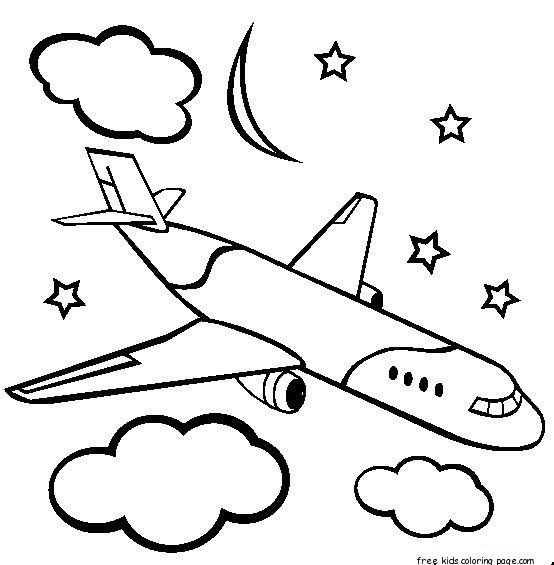 Airplane Coloring Page Flight Activities Airplane Coloring