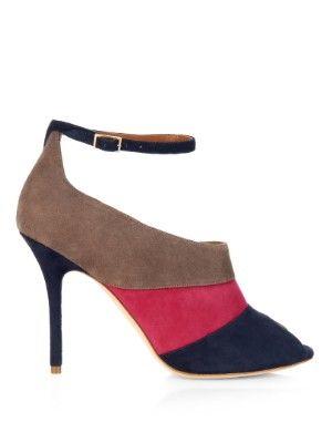 Malone Souliers Sheila tri-colour suede sandals