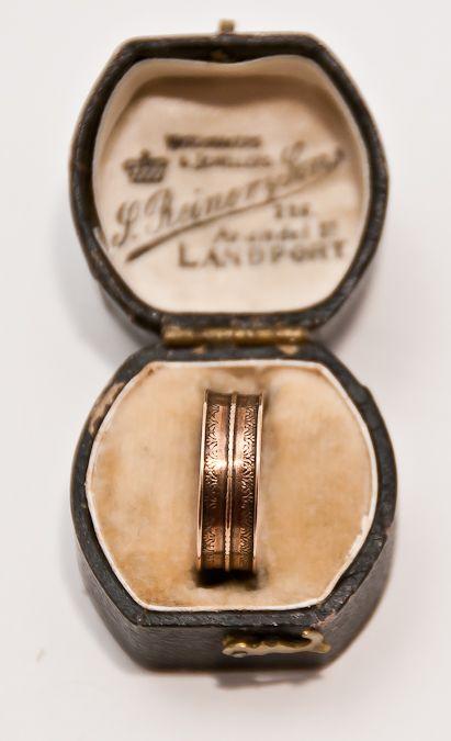 1800s English Rose Gold Band Ring Wedding Rings Vintage Rose Gold Band Ring Mens Wedding Bands Vintage