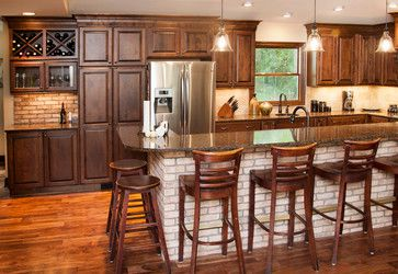 Pin By Hanna Dmochowska On House Kitchen Remodel Design Stained Kitchen Cabinets Alder Kitchen Cabinets