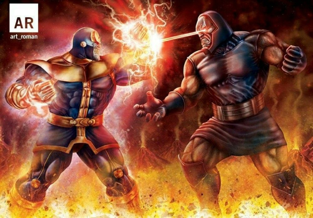 Darkseid vs thanos (Original vs the copy) DC-Marvel (for believers - copy coloring pages games superhero