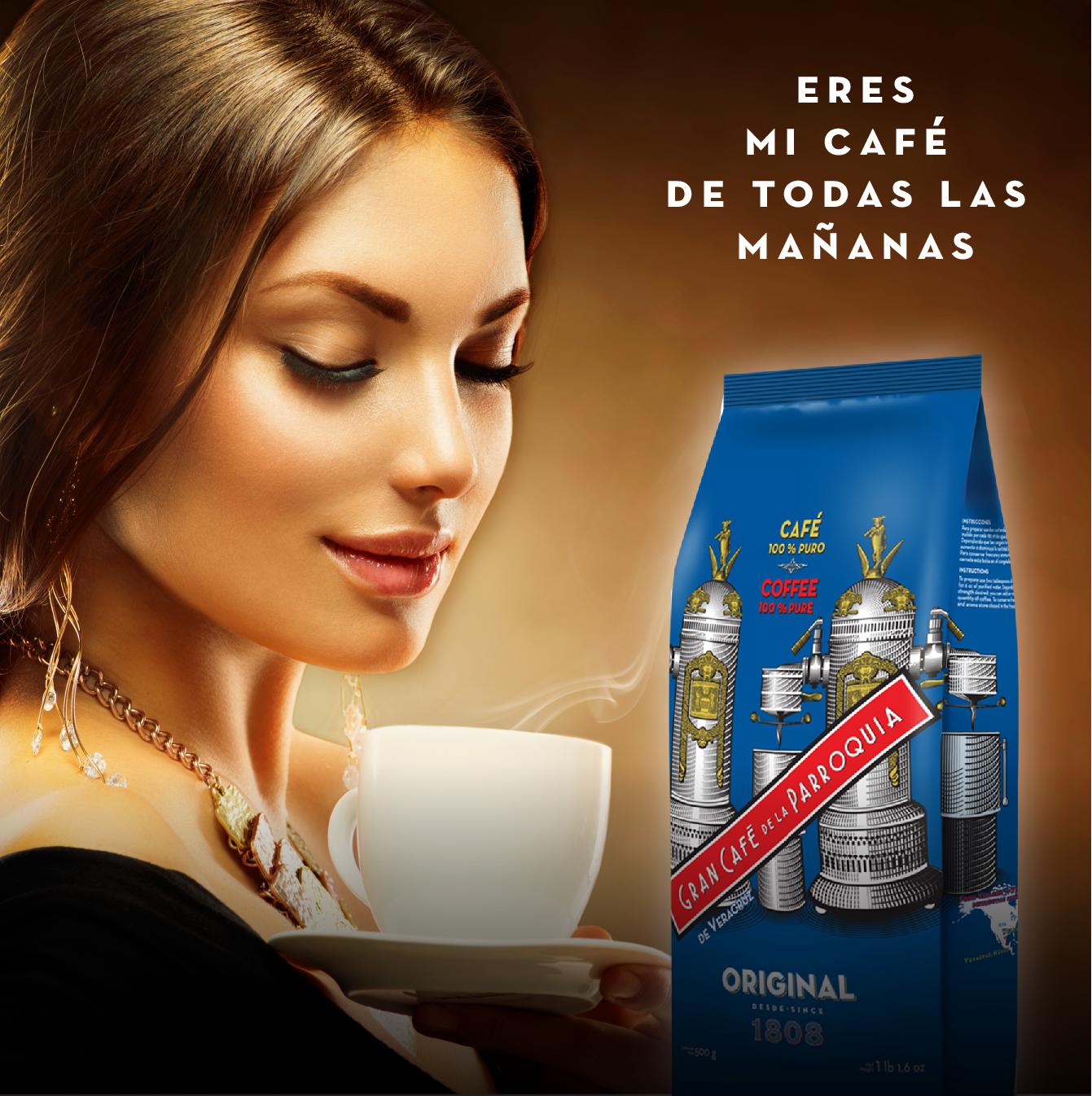 Disfruta del mejor café del país incluso estando fuera del Puerto de Veracruz.   Márcanos al 01800 509 1449 o escríbenos a estela@laparroquia.com para realizar tu pedido.
