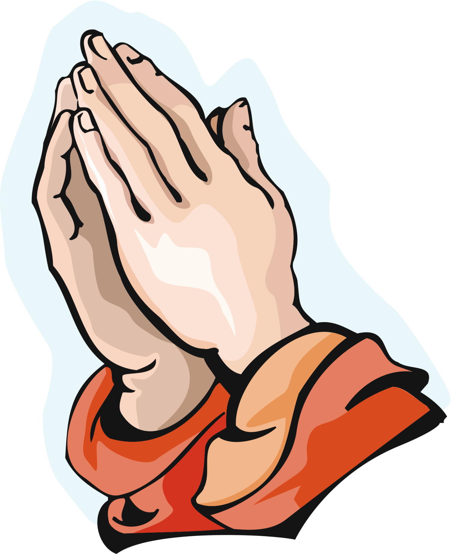 Praying Hands Clipart Cartoon Prayer Hands Clipart (With images ...
