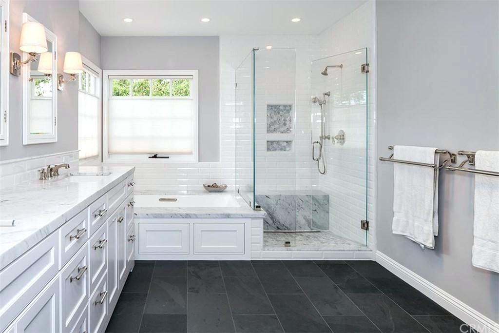 Black Slate Montauk Tile Home Depot Black Tile Bathrooms Slate Bathroom Tile Slate Bathroom Floor Dark slate bathroom floor slate