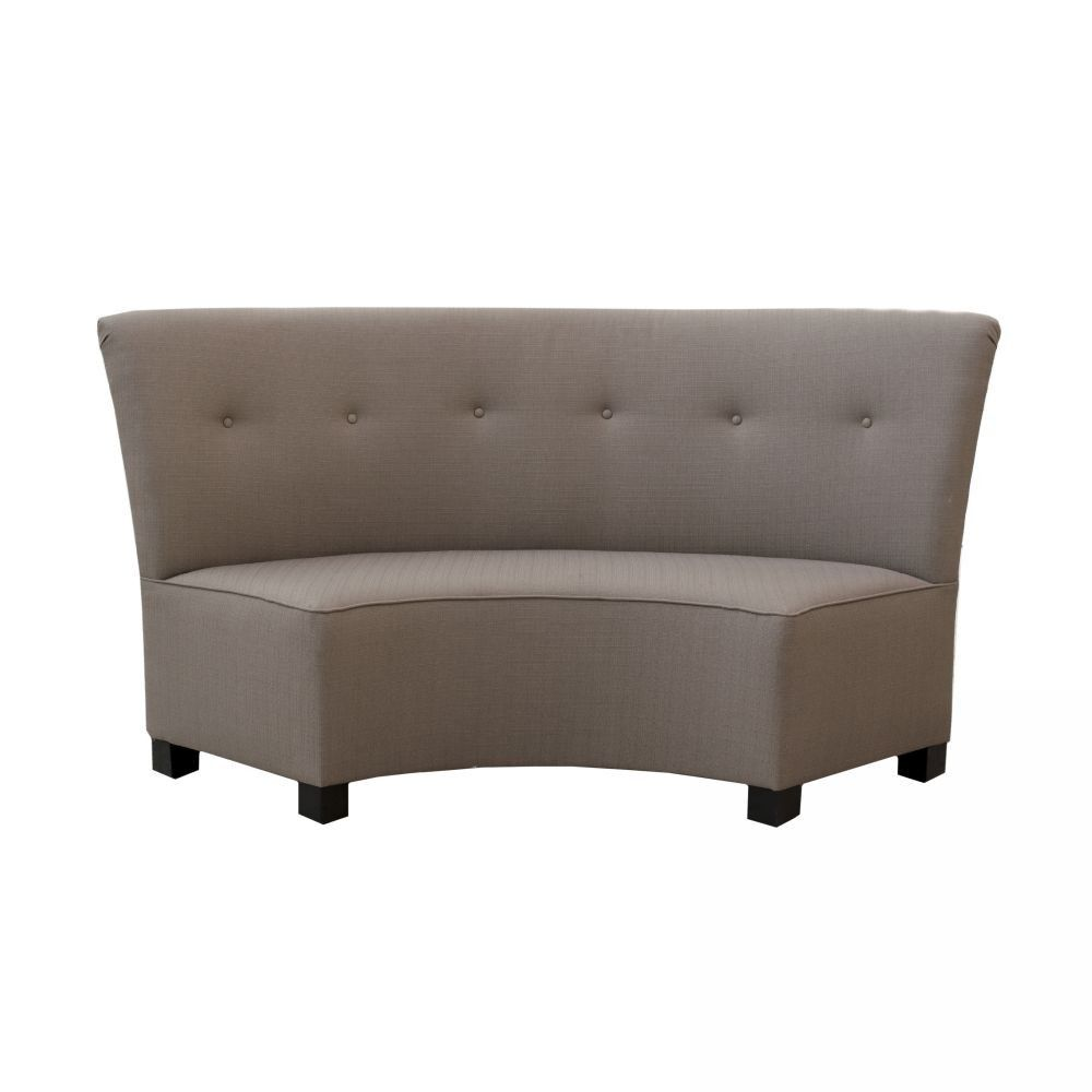Charming The Canton Curved Dining Bench Makes You Feel Like Youu0027re
