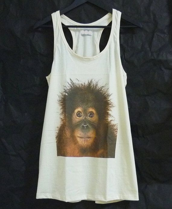 422883caade61 Orangutan monkey tank top dress cute funny face by WorkoutShirts ...