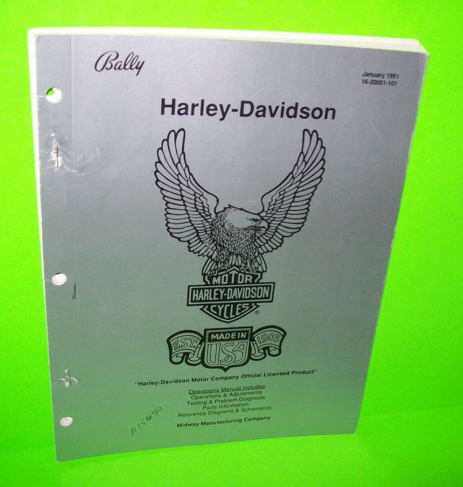 HARLEY DAVIDSON By BALLY 1991 ORIGINAL PINBALL MACHINE