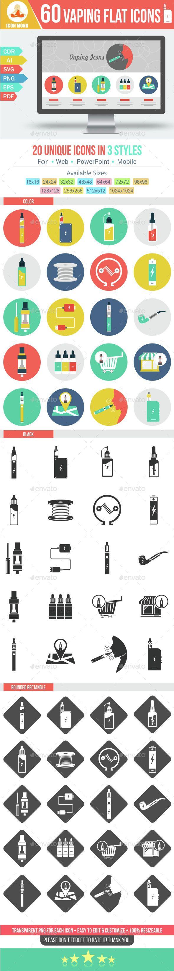 60 Vaping Flat Icon Flat Icon Vape Best Icons