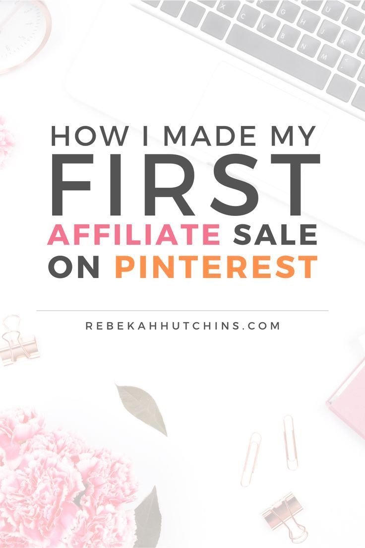 Want to see how I made my first affiliate sale on Pinterest? Click through for my tips on creating and pinning your first affiliate pin! #workathome   Side Hustle Ideas   Passive Income for Beginners