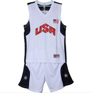 Free shipping! Cheap American National Team Jersey Dream 10 USA Basketball Uniforms sportswear XL-5XL