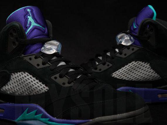 Black · Air Jordan V Black New Emerald Grape Ice
