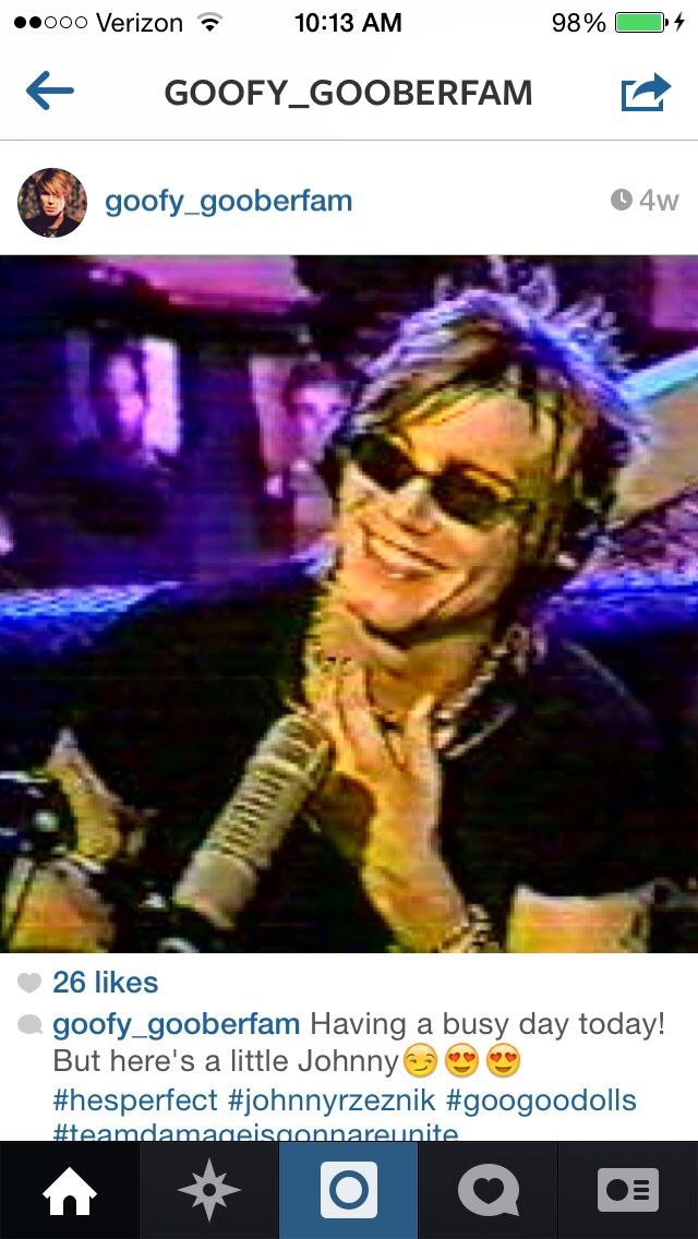 Repost from johnnyrzeznik_goo (formerly known as goofy_gooberfam) on Instagram. John Rzeznik <3