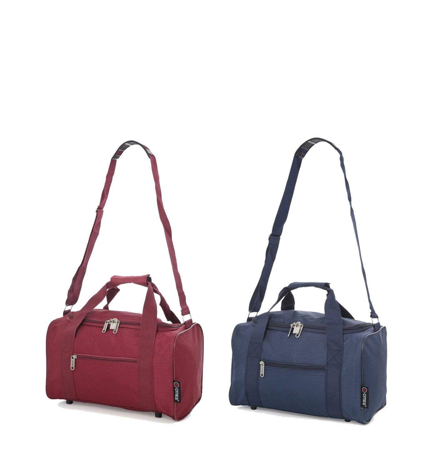 89ac2f43b 5 Cities Maximum 35x20x20 Ryanair Cabin Hand Luggage Holdall Flight Bag,  Set of 2: Amazon.co.uk: Luggage