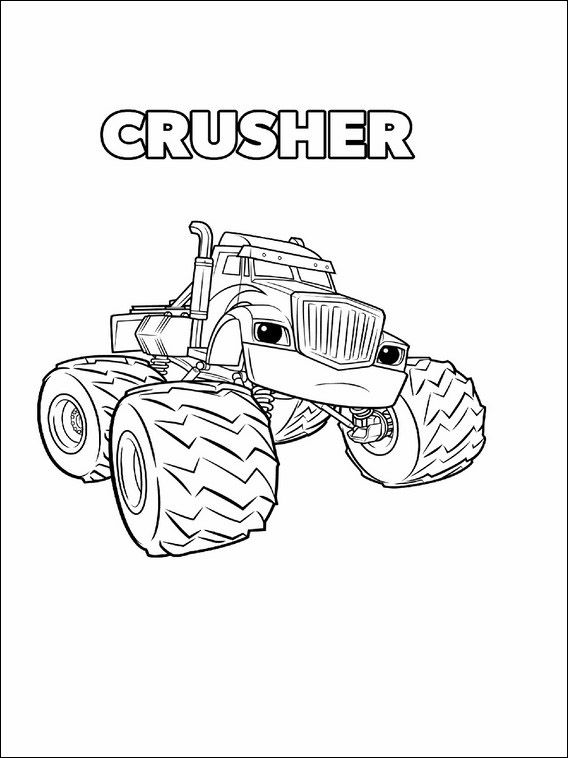 Blaze And The Monster Machines Coloring Pages 11 Monster Truck