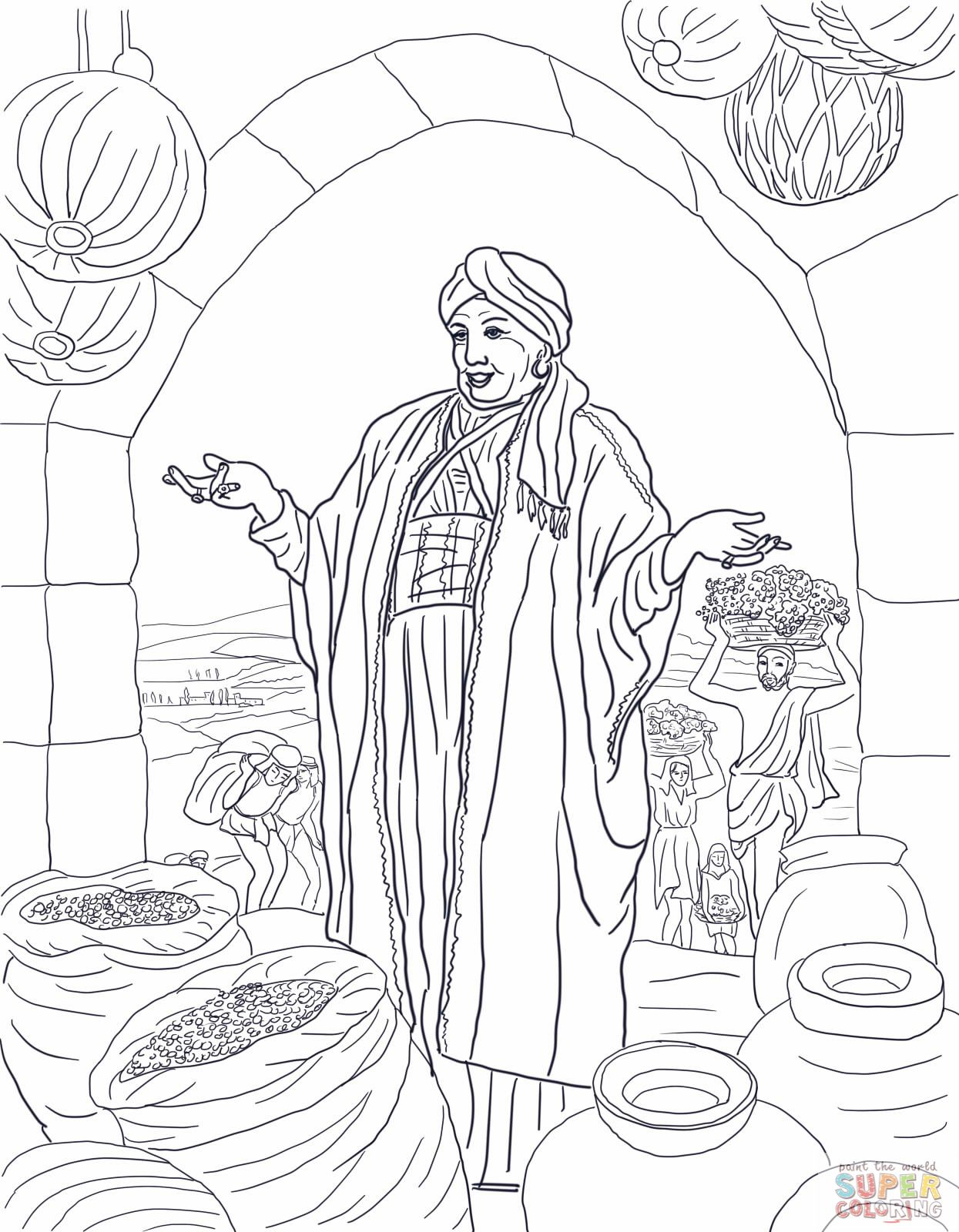 Parable Of The Rich Fool Coloring Page Jpg 1245 1600 Bible