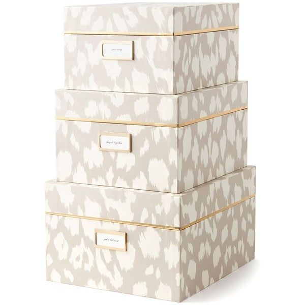 Stackable Boxes Home Decor Kate Spade Nesting Boxes Ikat $100 ❤ Liked On Polyvore