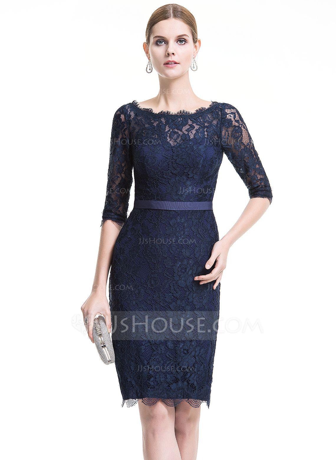 Outfit vestido azul marino encaje